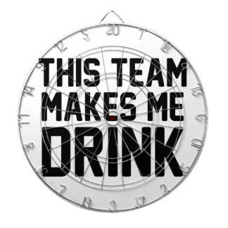 This Team Makes Me Drink Dartboard