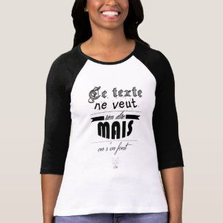 This text does not want to say T-Shirt