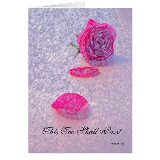 THIS TOO SHALL PASS NOTECARD RECOVERY SLOGANS CARD