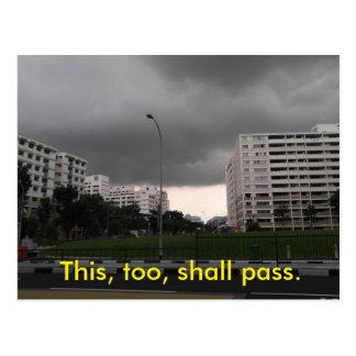 This, too, shall pass. postcard