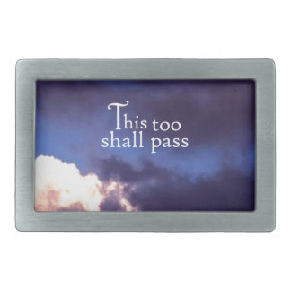 This too shall pass rectangular belt buckle