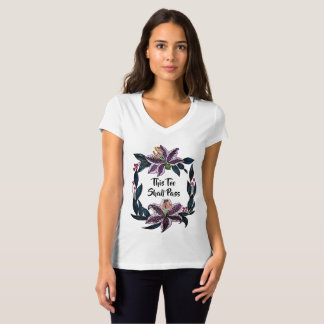 """""""This Too Shall Pass"""" Watercolor Lily Wreath T-Shirt"""