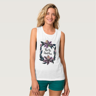 """""""This Too Shall Pass"""" Watercolor Lily Wreath Tank Top"""