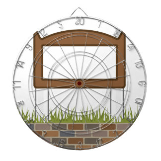 This town sign Vector Blank Dartboard