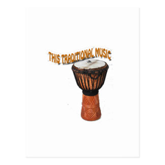 This Traditional Music Gendang Equipment Post Card