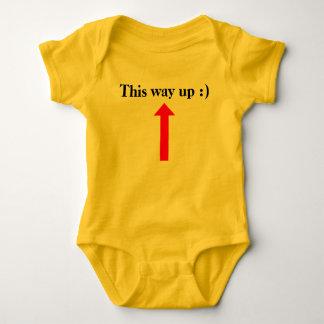 This way up :) baby bodysuit