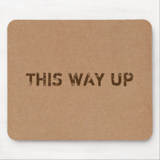 This Way Up Cardboard Box Texture Mouse Pad