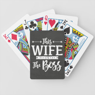 This Wife Is The Boss Bicycle Playing Cards