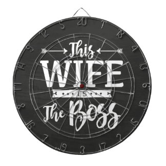 This Wife Is The Boss Dart Board