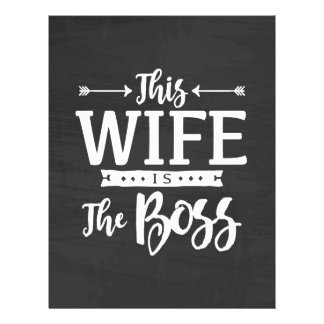 This Wife Is The Boss Letterhead