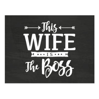 This Wife Is The Boss Postcard