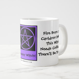 This Witch Needs Coffee JUMBO pagan wiccan mug cup Extra Large Mugs