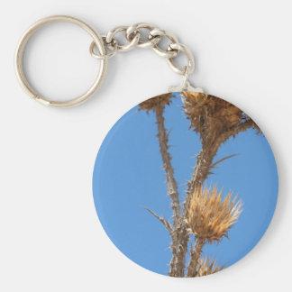 Thistle Against Blue Sky Keychain