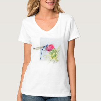 Thistle and Dragonfly t-shirt