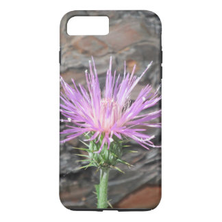 Thistle Bloom in Front of Fallen Tree iPhone 8 Plus/7 Plus Case
