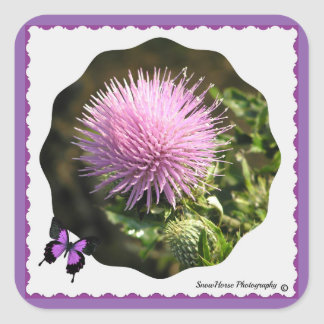 Thistle Bloom Sticker