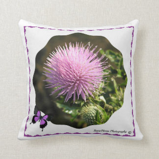 Thistle Bloom Throw Pillow