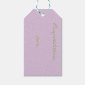 Thistle Congratulations (gold script) Pack Of Gift Tags