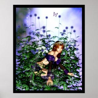 Thistle Fairie Poster
