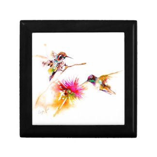 """Thistle for Two"" Hummingbird Print on Gift Box"