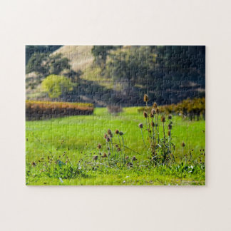 Thistle in a Vineyard Jigsaw Puzzle