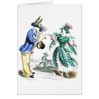 Thistle Lady & Donkey Man Card