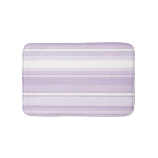 Thistle purple stripes bathroom mat