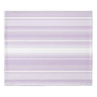 Thistle purple stripes duvet cover