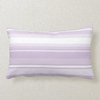 Thistle purple stripes lumbar pillow