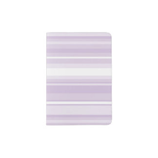 Thistle purple stripes passport holder