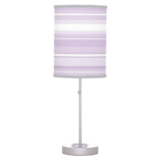 Thistle purple stripes table lamps
