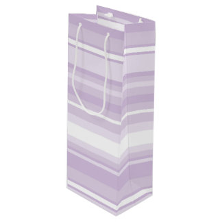 Thistle purple stripes wine gift bag