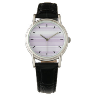 Thistle purple stripes wristwatches