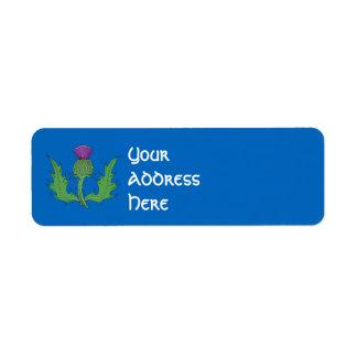 Thistle Return Address Label