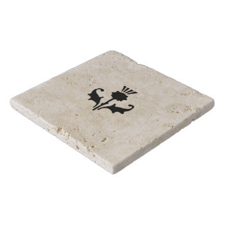 Thistle Travertine Trivet