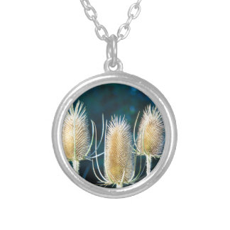 Thistle Trio Silver Plated Necklace