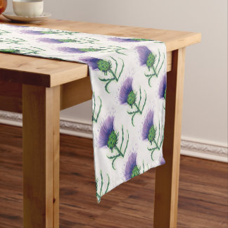 Thistle with a twist of tartan short table runner