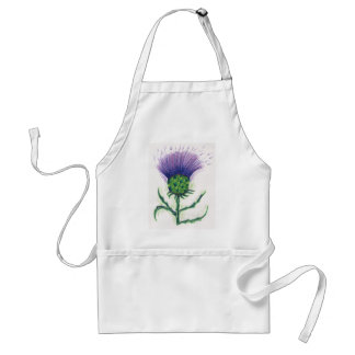Thistle with a twist of tartan standard apron
