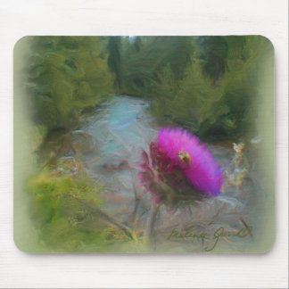 Thistle with Bee Mousepad