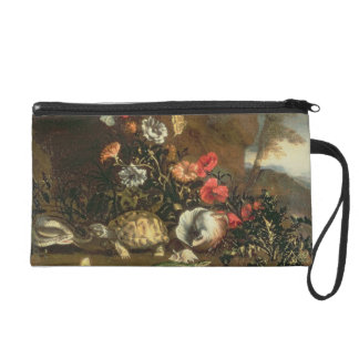 Thistles, flowers, reptiles and butterflies beside wristlet