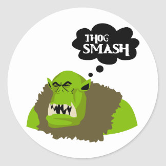 Thog Smash Classic Round Sticker