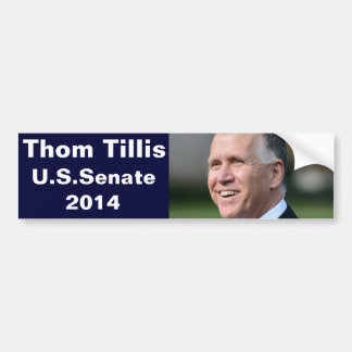Thom Tillis for U.S Senate Bumper Sticker