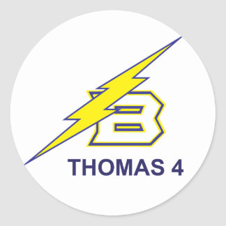 Thomas 4 round sticker