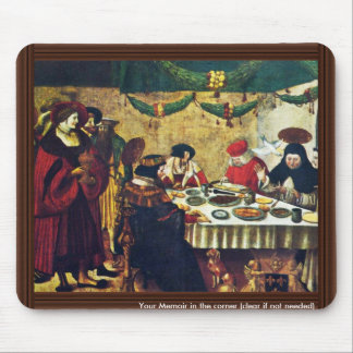 Thomas Aquinas At Saint Louis By Deutsch Niklaus M Mouse Pad