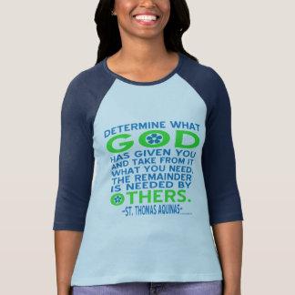 Thomas Aquinas God Given Blue and Green T-Shirt