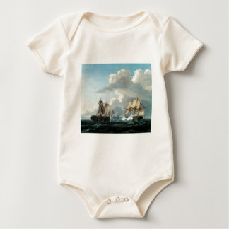 Thomas Birch The Macedonian and the United States Baby Bodysuit