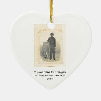 "Thomas ""Blind Tom"" Wiggins, 1859 Ceramic Ornament"