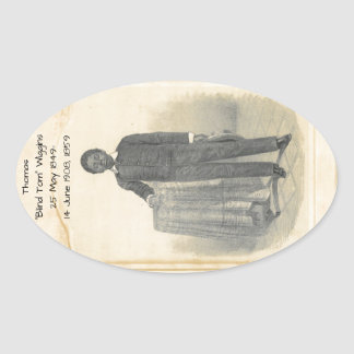 "Thomas ""Blind Tom"" Wiggins, 1859 Oval Sticker"