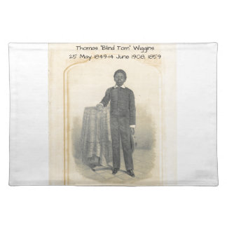 "Thomas ""Blind Tom"" Wiggins, 1859 Placemat"