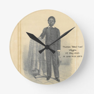 "Thomas ""Blind Tom"" Wiggins, 1859 Round Clock"